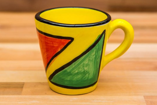 Carnival small tapered mug in Yellow