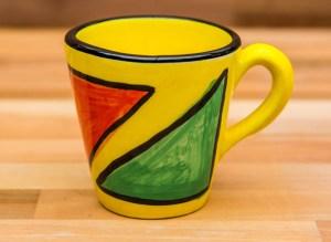 Carnival small tapered mug in Yellow