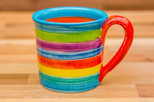 Horizontal Stripey small parallel mug in Candy