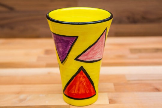 Carnival small vase in Yellow
