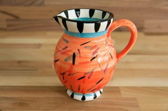 Splash medium jug in orange