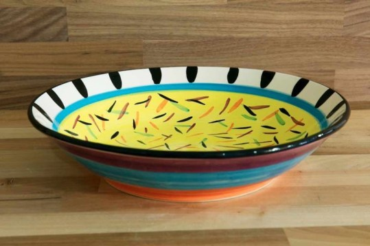 Splash Salad/fruit bowl in yellow