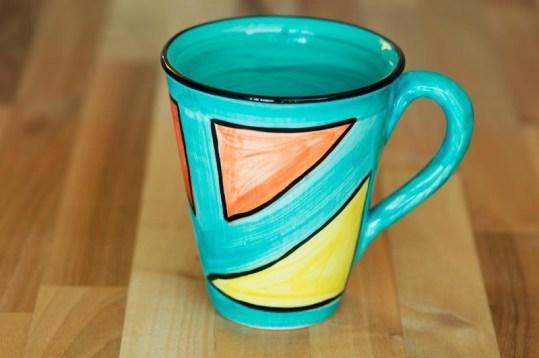 Carnival small tapered mug in sea green