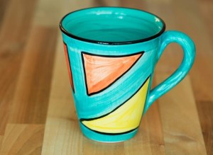 Carnival small tapered mug in sea green