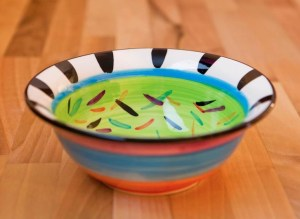Splash cereal bowl in lime green