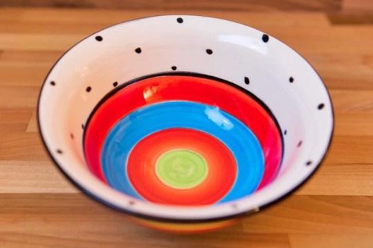 Hi-Life Gaudy cereal bowl in polka dot