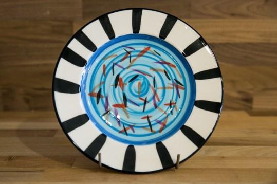 Splash 8″ side plate in Pale Blue