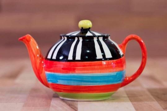 Hi-Life Gaudy small teapot in broad stripe