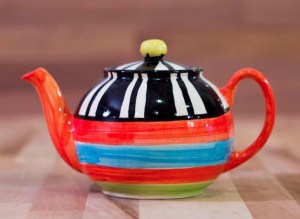 Hi-Life Gaudy small teapot in broad stripe