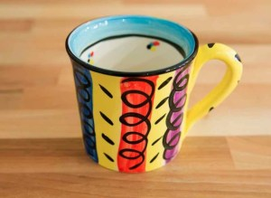 Vertical Stripey wide mug in Multi