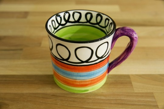 Hi-Life Gaudy wide mug in scribble