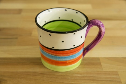 Hi-Life Gaudy wide mug in polka dot