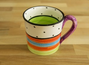 Hi-Life Gaudy wide mug in polka dot
