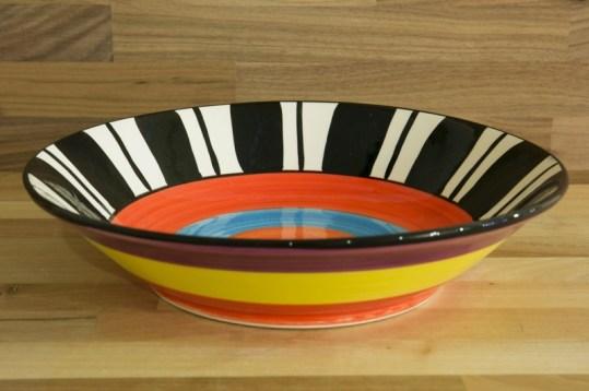 Hi-Life Gaudy fruit/salad bowl in broad stripe