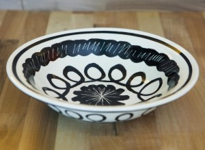 Black and White pasta bowl in Scribble