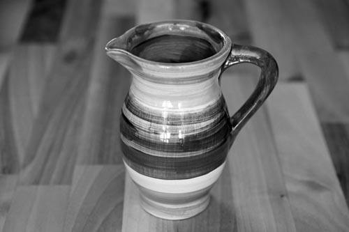 Black and White creamer jug in Banded