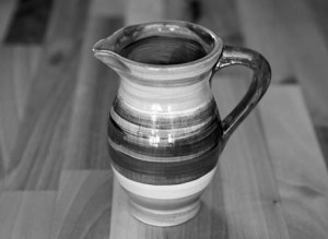 Black and White creamer jug in Scribble