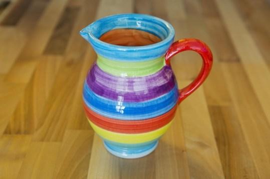 Horizontal Stripey medium jug in candy