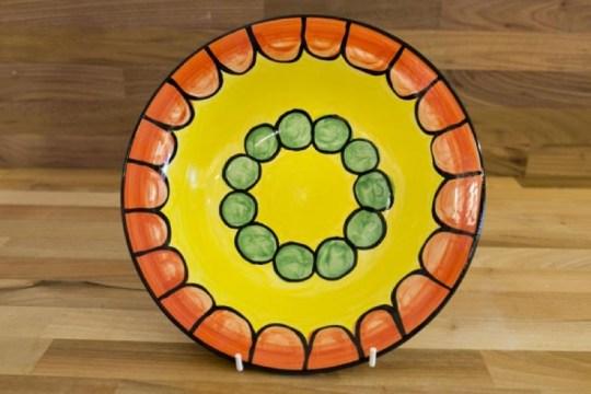 Fruity 8″ side plate in orange