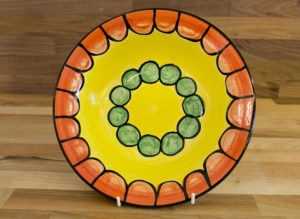 Fruity 11″ dinner plate in orange
