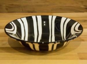 Black and White pasta bowl in Broad Stripe