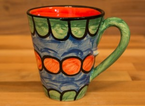 Fruity small tapered mug in Green
