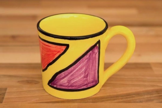 Carnival wide parallel mug in Yellow