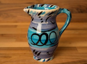 Abstract creamer jug in blue