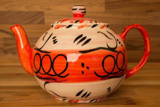 Abstract large Teapot in red