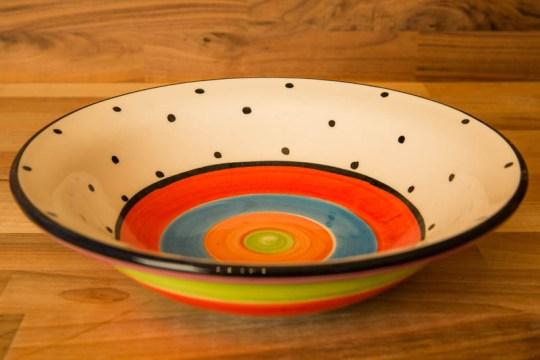 Hi-Life Gaudy pasta bowl in Polka Dot