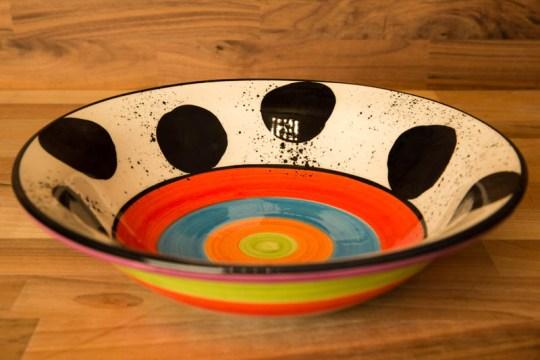 Hi-Life Gaudy pasta bowl in Spot