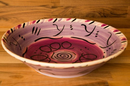 Abstract salad/fruit bowl in purple