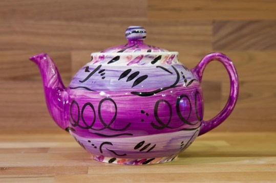 Abstract extra large Teapot in purple