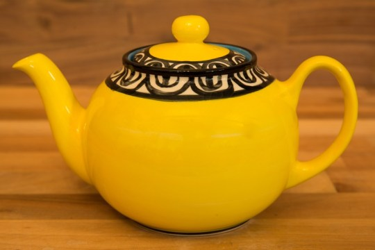 Aztec large Teapot in yellow