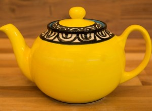 Aztec extra large Teapot in Yellow