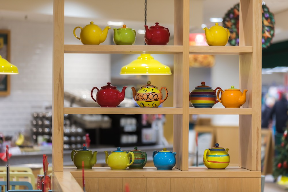 1 national supermarket chain - 8000 teapots - 527 stores - 1 small pottery studio Reckless Designs