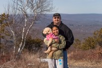 Snuggs, Munn & I on top of Mount Pocono