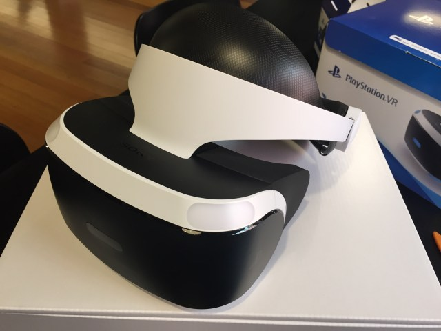 The PSVR headset