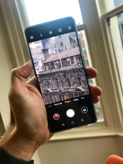 The camera app is detailed and feature-rich