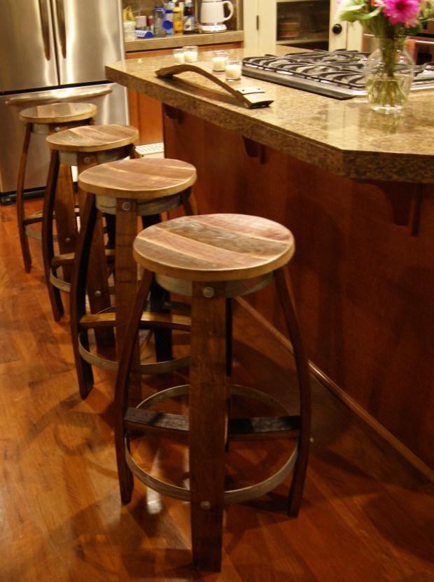 Reclaimed wine barrel Bar Stool 200  reclaimedwinebarrel