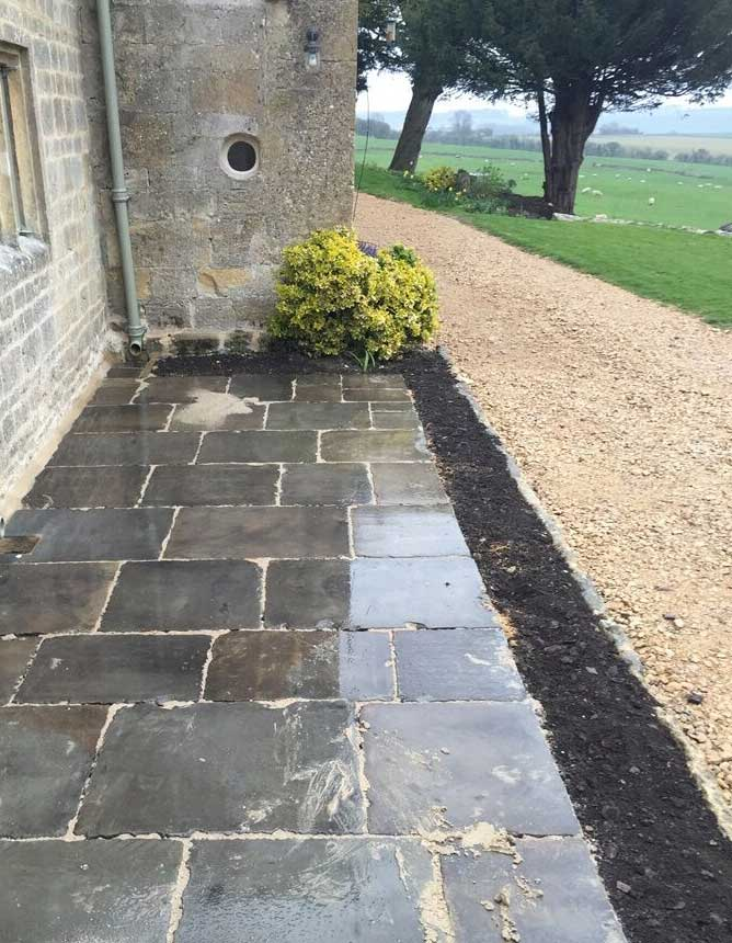reclaimed Cathedral yorkstone slabs