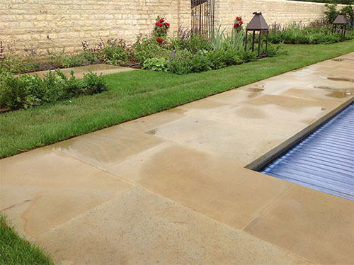 Sawn yorkstone in Cotswolds