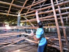 Inside the drying house