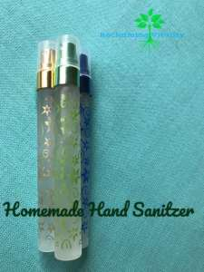 Homemade Hand Sanitizer in Perfume Bottles