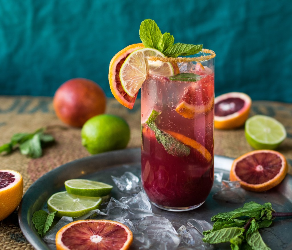 blood orange mojito 1