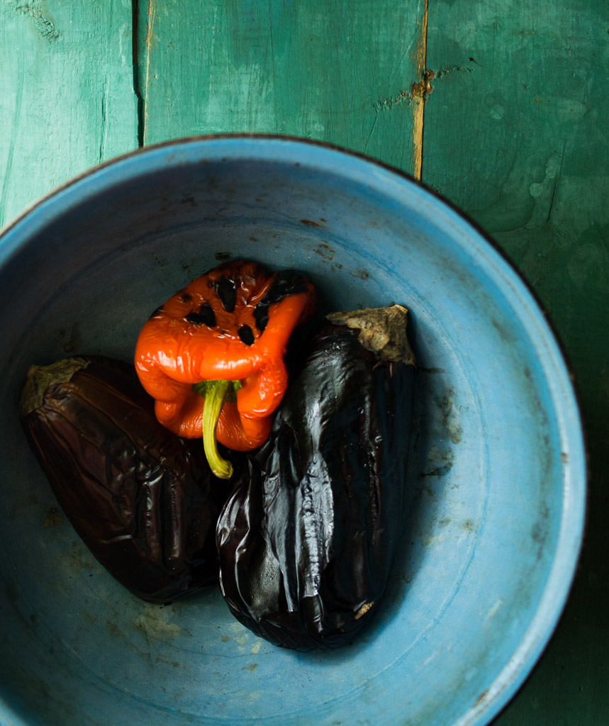 roasted red pepper baba ganoush