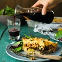 Eggplant Moussaka with Chickpea Bechamel