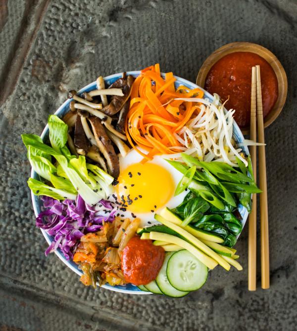 Duck Egg Bibimbap with Healthier Gochujang Sauce | Reclaiming Yesterday