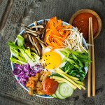 Duck Egg Bibimbap with Healthier Gochujang Sauce | Reclaiming Yesterday
