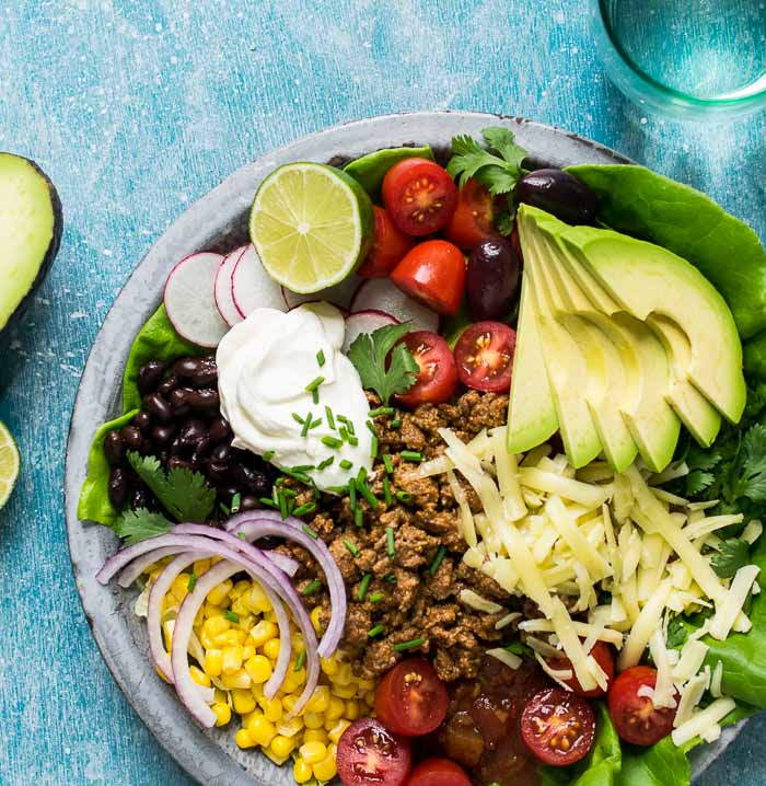 taco salad grass-fed